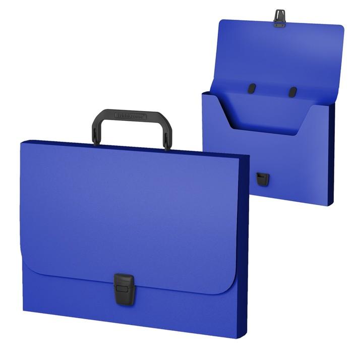 Папка-портфель А4, Erich Krause, Classic, синяя, пластиковая