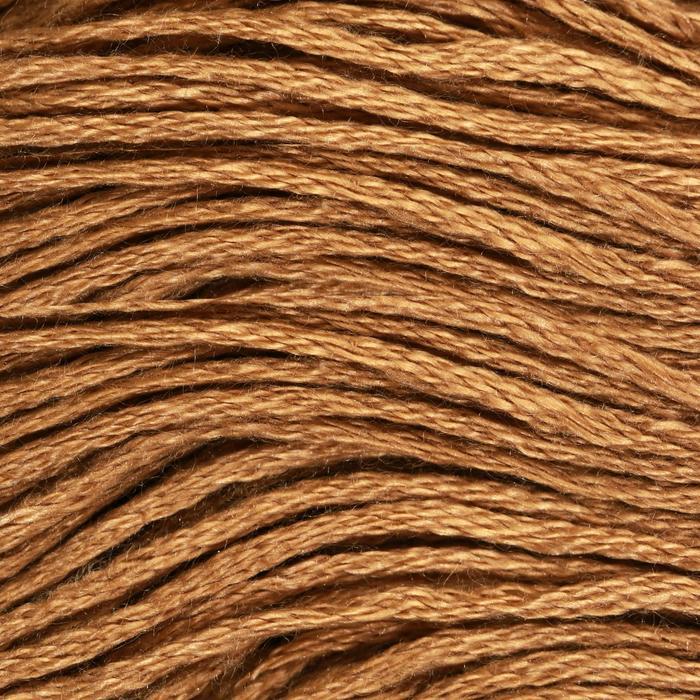 Нитки мулине, 8 ± 1 м, цвет тёмно-песочный №3045