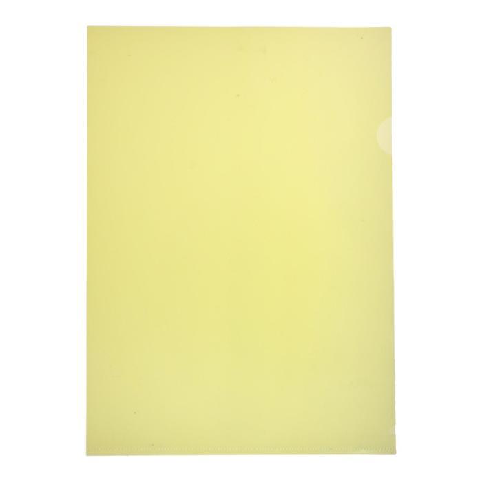 Папка-уголок A4, 150мкм прозрачная, желтая