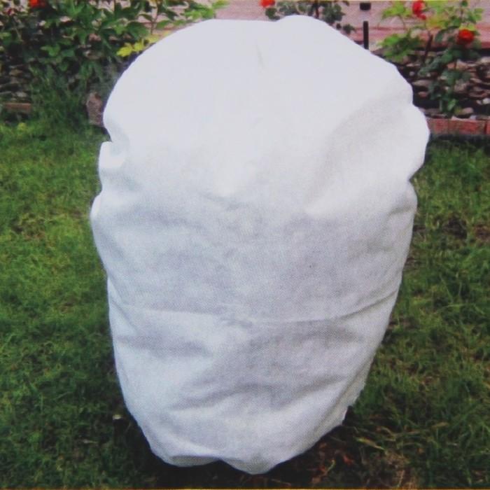 Чехол для растений, прямоугольный на шнурках, 60 ? 40 см, спанбонд с УФ-стабилизатором, плотность 42 г/м?, набор 2 шт., цвет белый