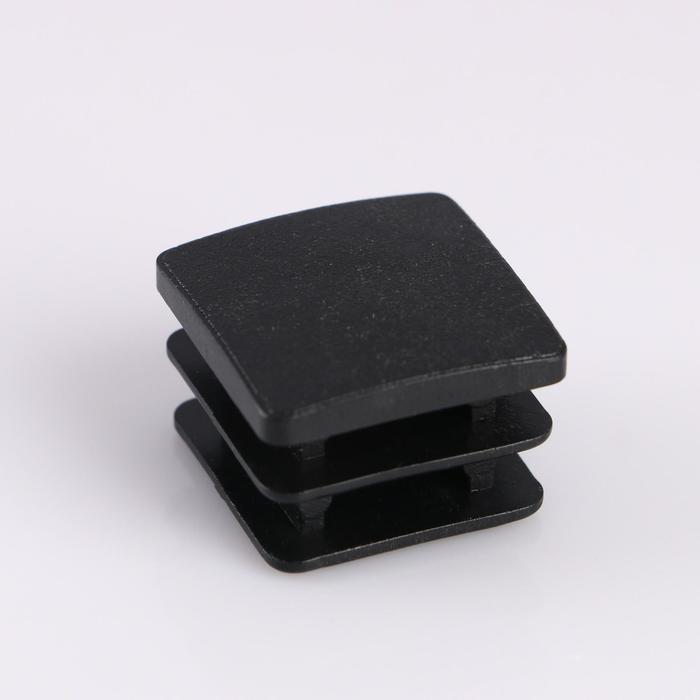 Заглушка внутренняя 30х30 мм, универсальная, черная