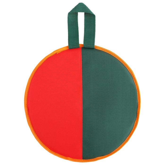 Ледянка d=33 см h=10 мм, цвет зелёный/красный
