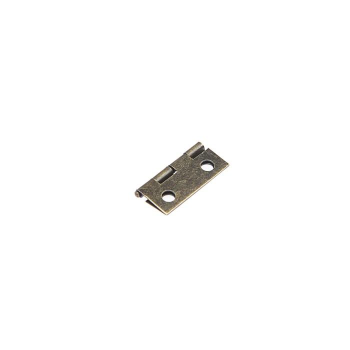 Петля железная, 15х18х0.9 мм, цвет бронза