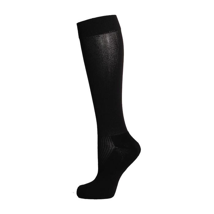 Гетры спортивные «Спорт 1», размер 32-34, цвет чёрный