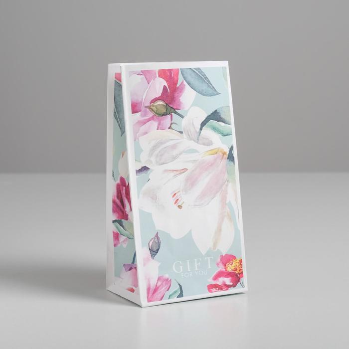 Пакет подарочный без ручек Gift for you, 10 ? 19.5 ? 7 см