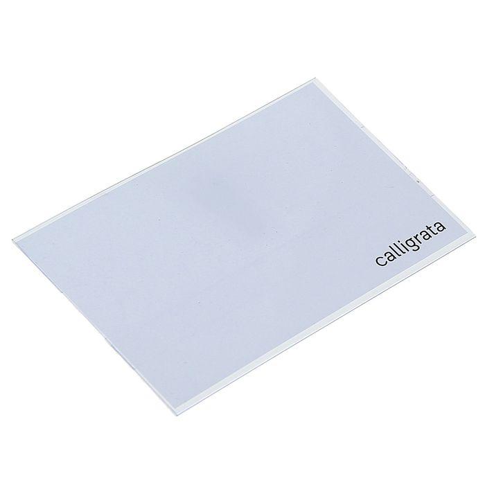 Бейдж-карман горизонтальный, 30 мкр, (внешний 88 х 55 мм), внутренний 88 х 53 мм, с зажимом и булавкой, CALLIGRATA