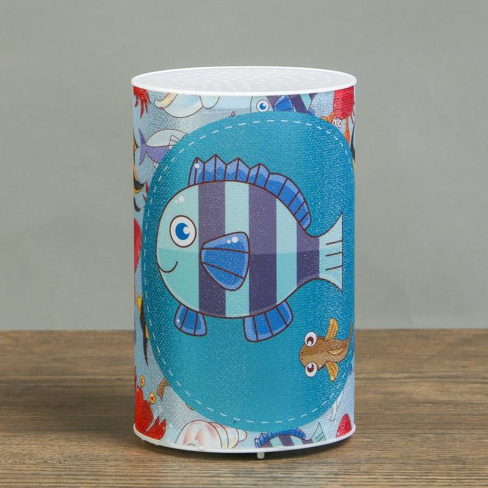 """Ночник пластик """"Подводный мир"""" от батареек CR2032х1 7,1х7,1х11,3 см"""