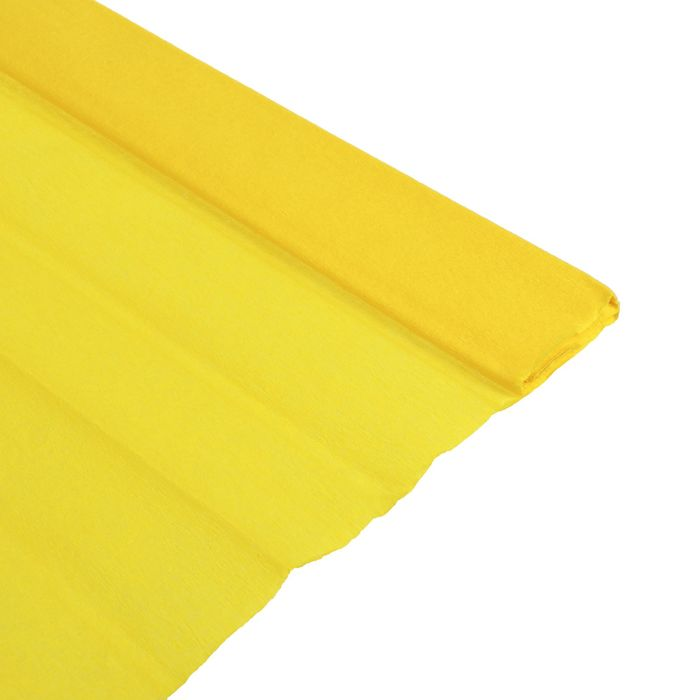 Бумага крепированная 50 х 200 см, плотность 32 г/м в рулоне Желтый (80-46)