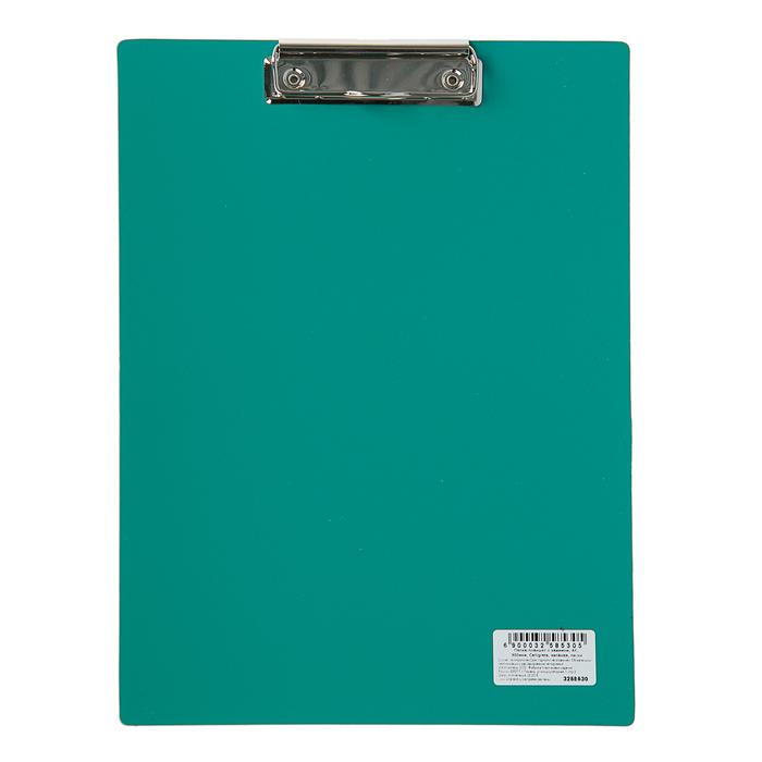 Планшет с прижимом А4, Calligrata, песок, зелёная