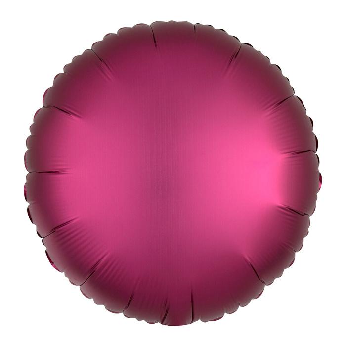 """Шар фольгированный 5"""" «Круг» с клапаном, матовый, цвет бургундия"""