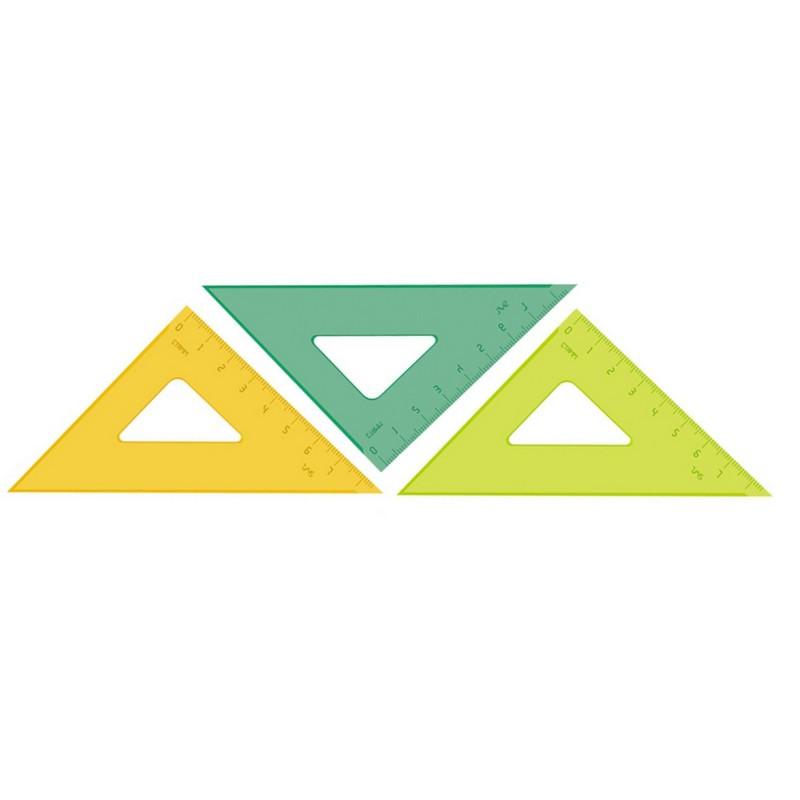 Линейка Треугольник 7 P см угол 45 градусов пластик ТК-22 цвет ассорти