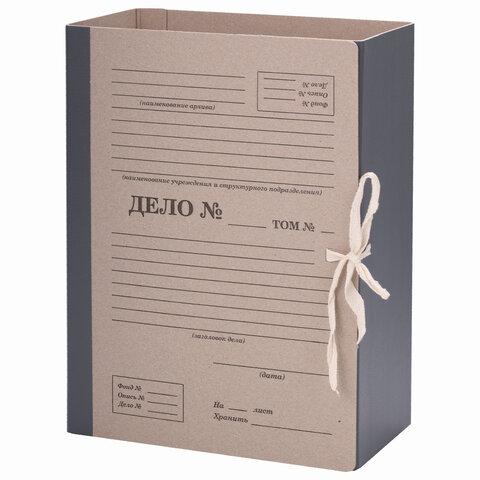"""Папка архивная для переплета """"Форма 21"""" 120 мм, с механизмом для скоросшивания, завязки, STAFF, 112171"""