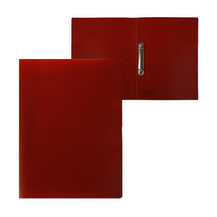 Папка на 2 кольцах А4, Calligrata, 18 мм, 500 мкм, красная