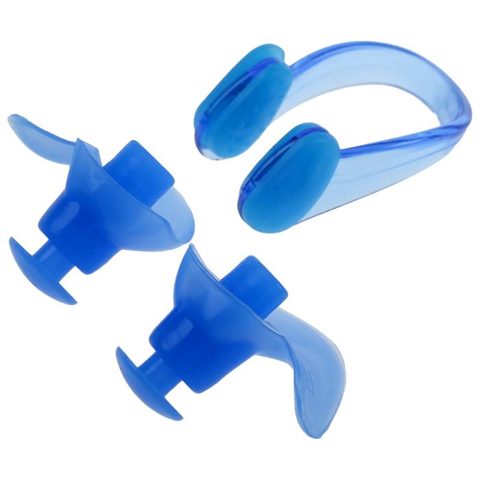 Беруши для плавания+зажим для носа, силикон, цвета МИКС