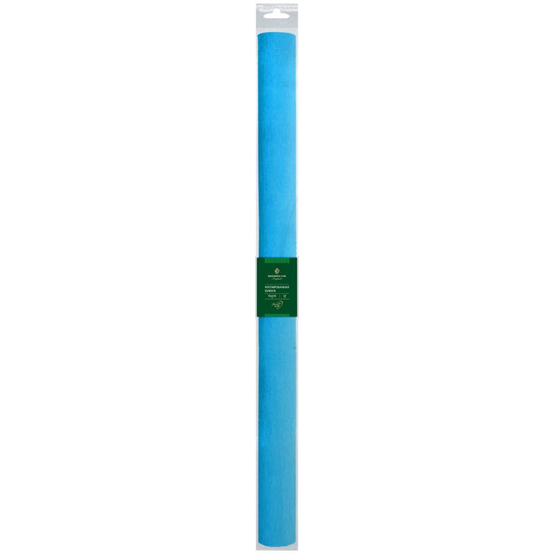 Бумага крепированная Greenwich Line, 50*250см, 32г/м2, голубая, в рулоне, пакет с европодвесом