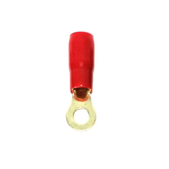 Клемма силовая Aria 4GA Ring terminals, 4 Ga, красная