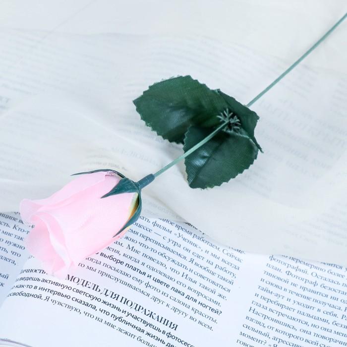 """Цветы искусственные """"Роза"""" 23 см, персиковая"""