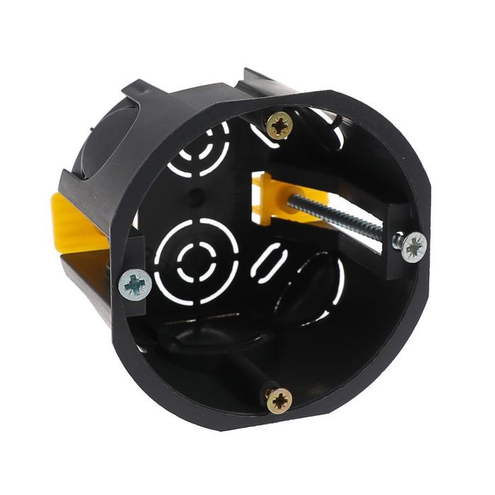 Коробка установочная TUNDRA, 68х45 мм, IP20, для полых стен, черная