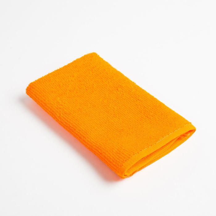 Полотенце махровое Экономь и Я 30х30 см, оранжевый, 100% хл
