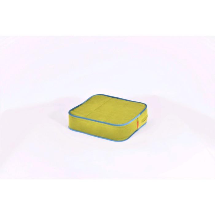 Подушка-пуф передвижной «Моби», размер 40 ? 40 см, зелёный/синий, велюр