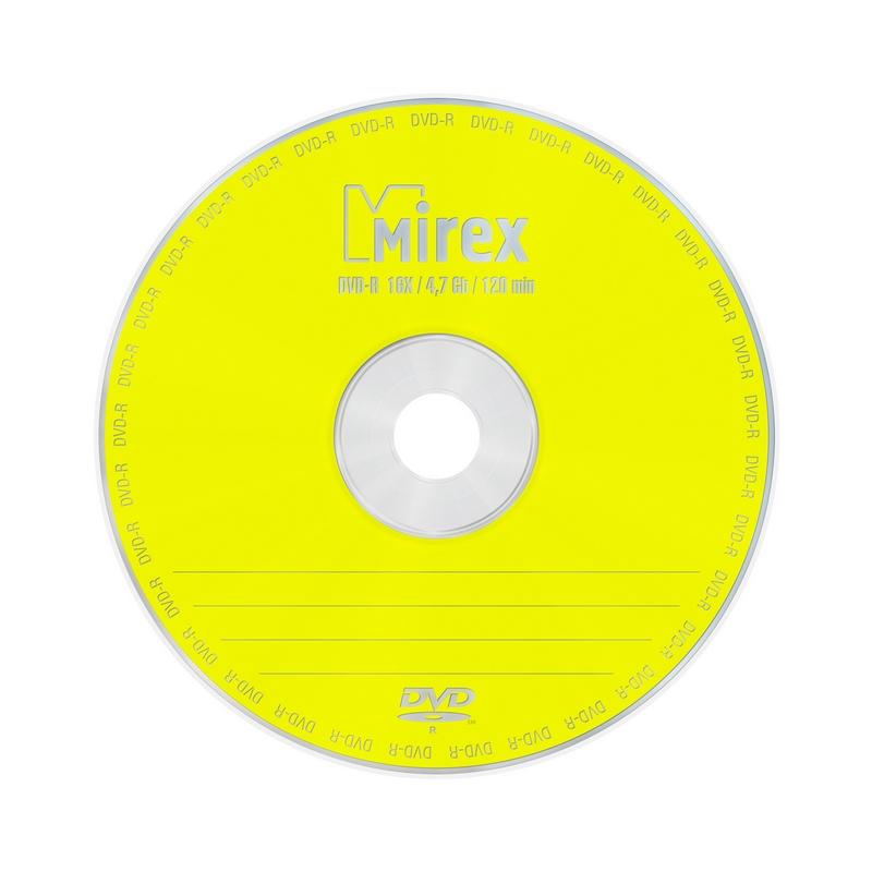 Носители информации DVD-R, 16x, Mirex, конверт/1, UL130003A1C