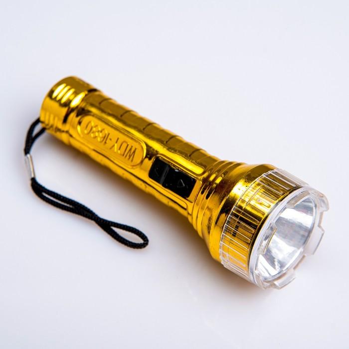 """Фонарь ручной """"Металлик"""", 1 LED, микс, 3.5х10 см"""