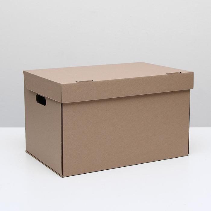 Коробка для хранения, бурая, 48 х 32,5 х 29,5 см,