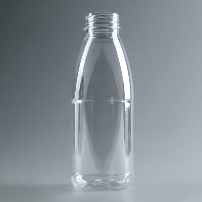 Бутылка одноразовая молочная «Универсал», 500 мл, с широким горлышком 0,38 мм, цвет прозрачный