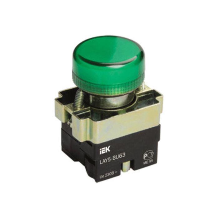 Арматура светосигнальная IEK LAY5-BU63 (BLS50-BU-K06), d=22мм, зел.