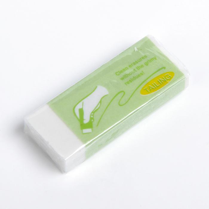 Ластик ERASERS, белый, в бумажном держателе