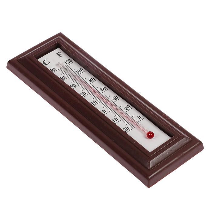 Термометр LuazON, комнатный, спиртовой, коричневый