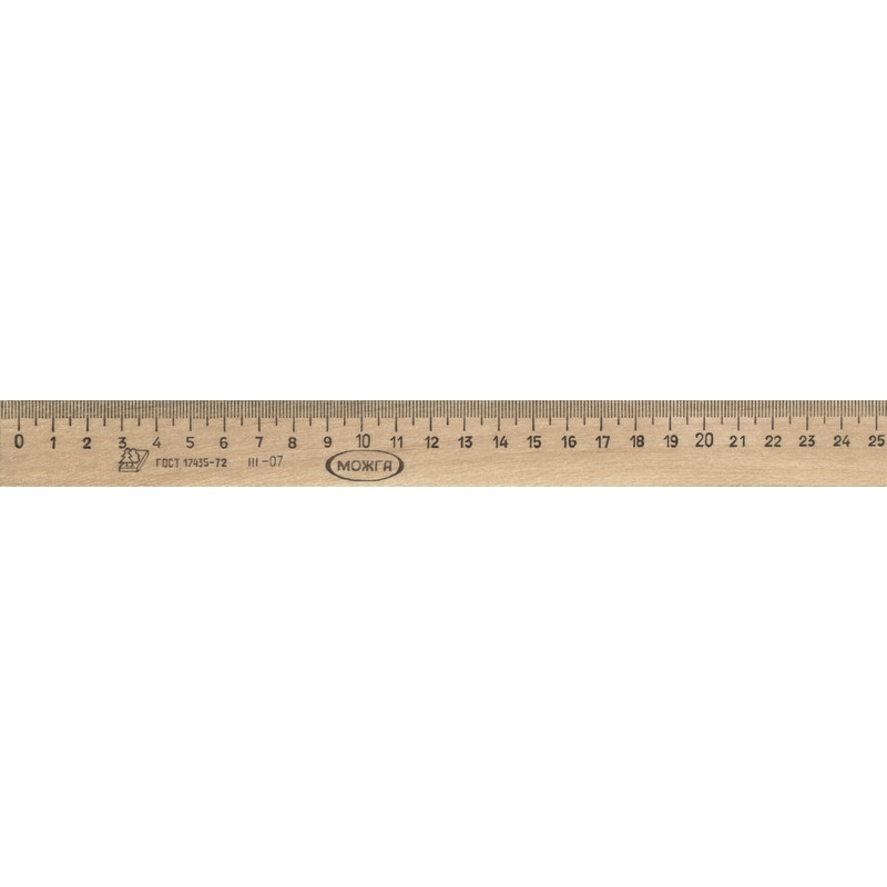 Линейка деревянная 25см,ЛП-250,С-06
