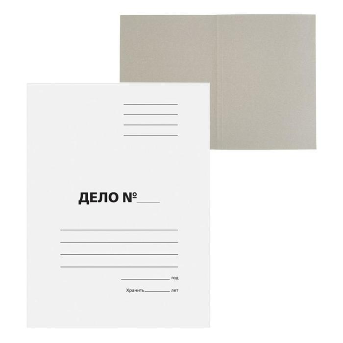 """Папка-обложка """"Дело"""", картон, 220 г/м2, белый, до 200 листов, немелованный картон"""