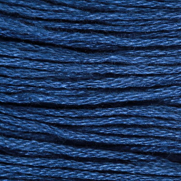 Нитки мулине, 8 ± 1 м, цвет тёмно-синий №336