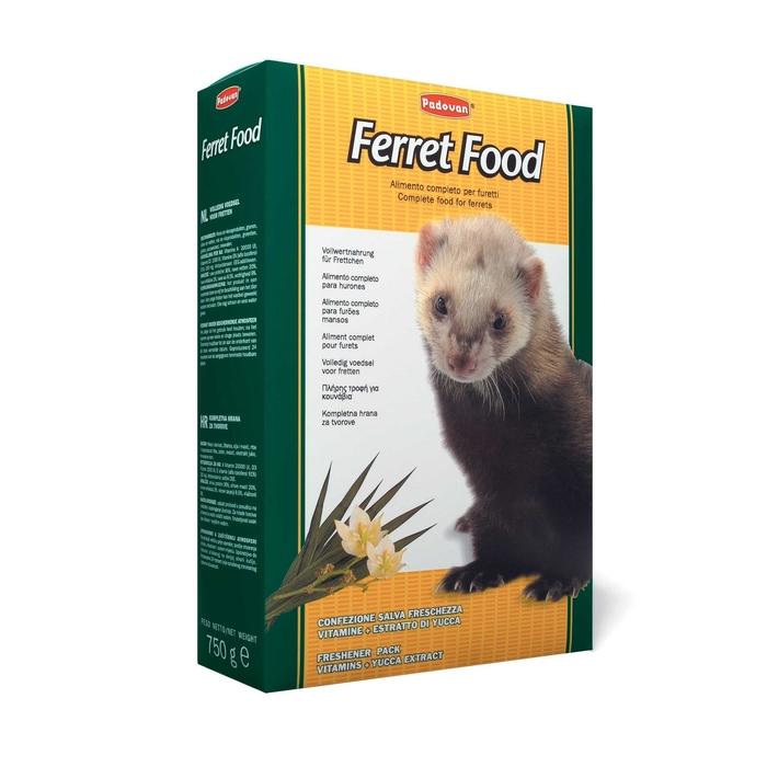 Корм Padovan FERRET FOOD для хорьков, комплексный/основной, 750 г.