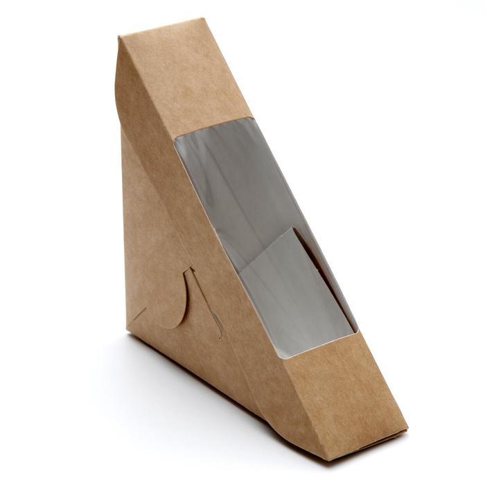 Упаковка для сэндвича, 12,5 х 12,5 х 4 см