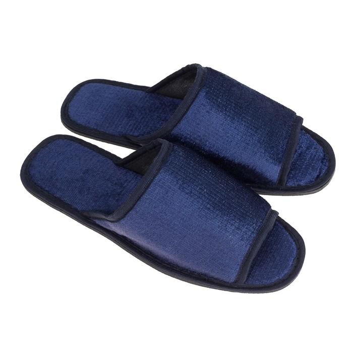 Тапочки мужские, цвет синий, размер 42-43