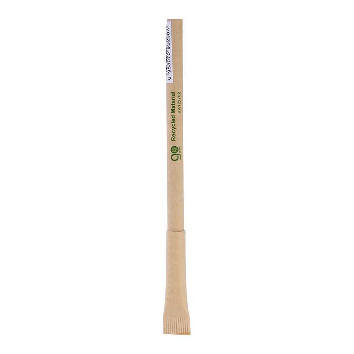 Ручка шариковая Beifa ЭКО синяя, корпус из ламинированного картона (цена за 1 шт)