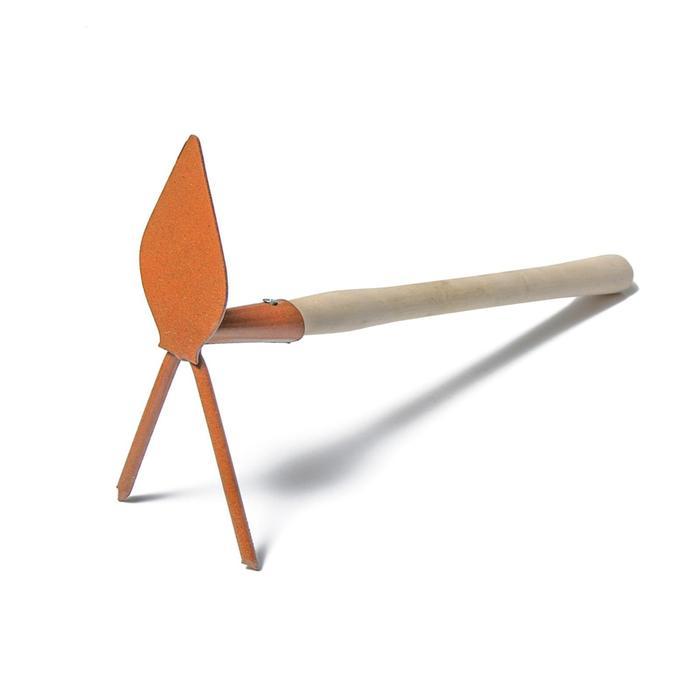 Мотыжка комбинированная, длина 32 см, деревянная ручка, цвет МИКС