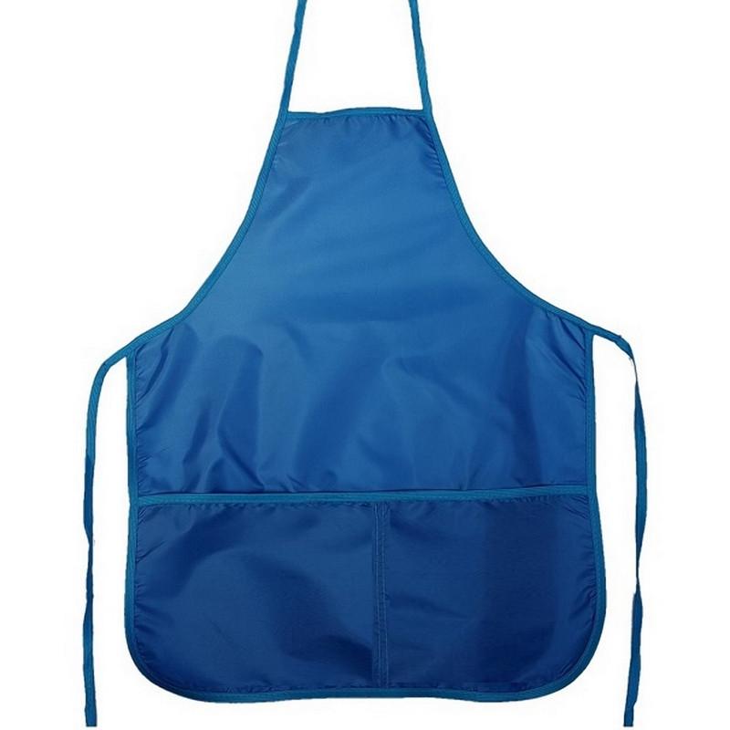 Фартук для труда 1 School синий 44x54 см, 2 кармана
