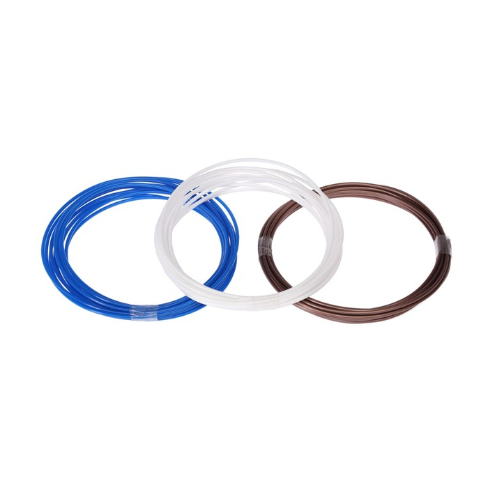 Пластик PLA, для 3D ручки, по 3.5 м, 3 цвета в наборе МИКС