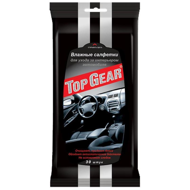 Салфетки влажные для салона автомобиля Top Gear 30