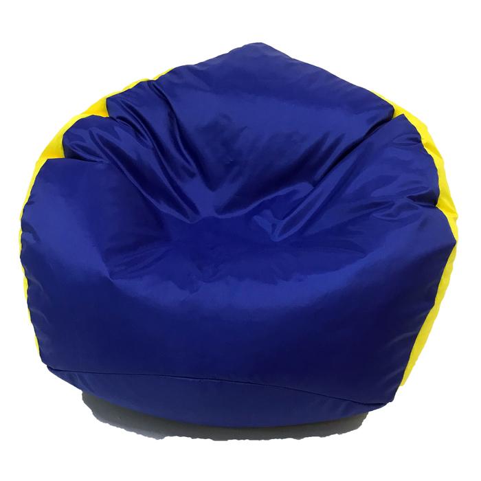 Кресло-мешок «Кроха», ширина 70 см, высота 80 см, васильково-желтый, плащёвка