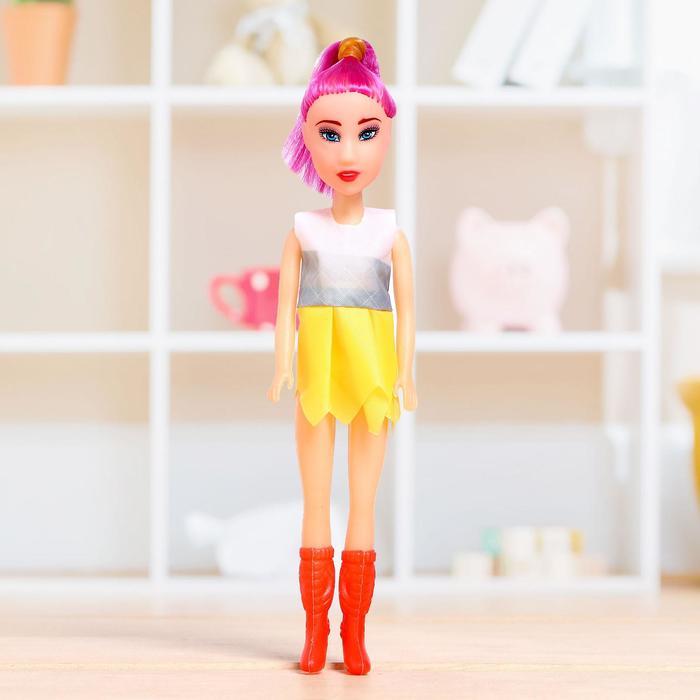 Кукла-модель «Марина» в цветном платье, МИКС