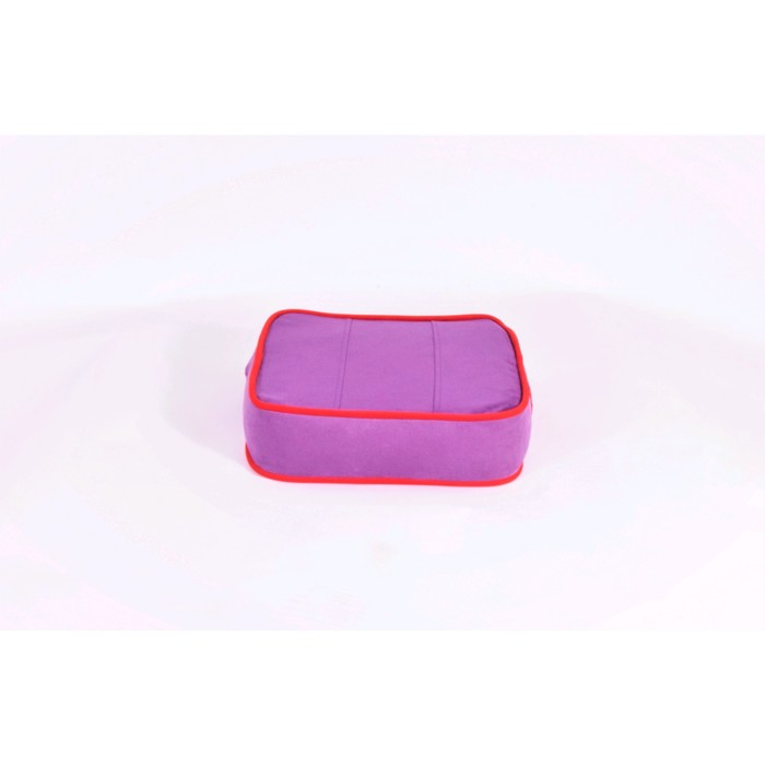 Подушка-пуф передвижной «Моби», размер 40 ? 40 см, фиолетовый/красный, велюр