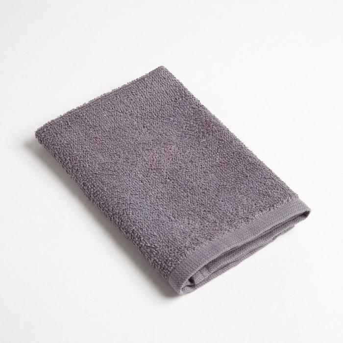 Полотенце махровое Экономь и Я 30х30 см, серый, 100% хл