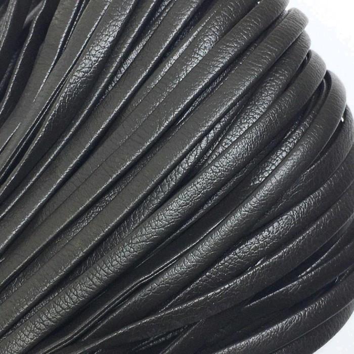 Шнур декоративный, кожзам, 4 мм, цвет коричневый
