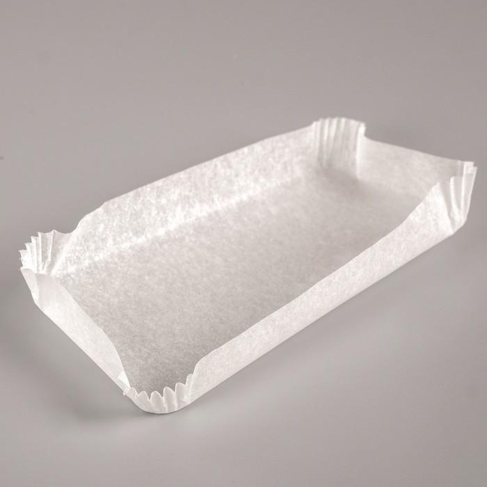 Тарталетка, белая, форма прямоугольник, 6,2 х 12 х 1,5 см