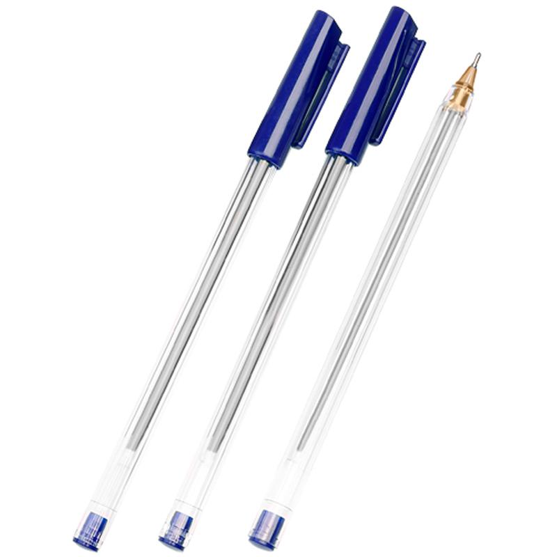 """Ручка шариковая Стамм """"РШ 800"""" синяя, 0,7мм, прозрачный корпус"""