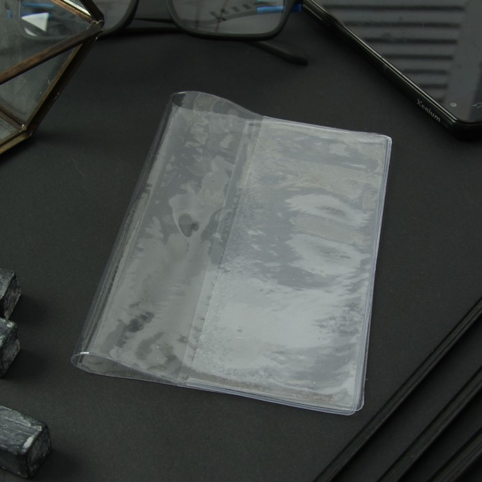 Обложка для паспорта, 120 мкн, прозрачная